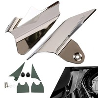 Reflective Chrome Saddle Shield Air Heat Deflector Fit For Harley Electra Glides EFI