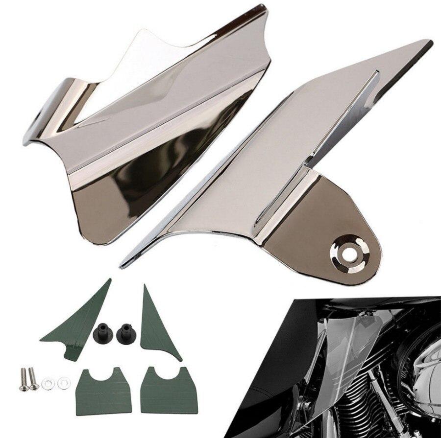 Reflective Chrome Saddle Shield Air&Heat Deflector Fit For Harley Electra Glides EFI 4pcs set smoke sun rain visor vent window deflector shield guard shade for hyundai tucson 2016