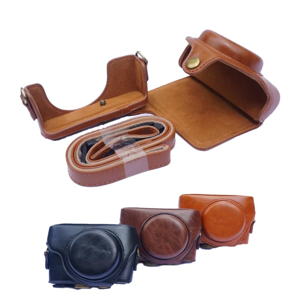 цены на New PU Leather Camera Case bag For Sony RX100 II III IV V RX100 VI camera Bag Cover with strap в интернет-магазинах