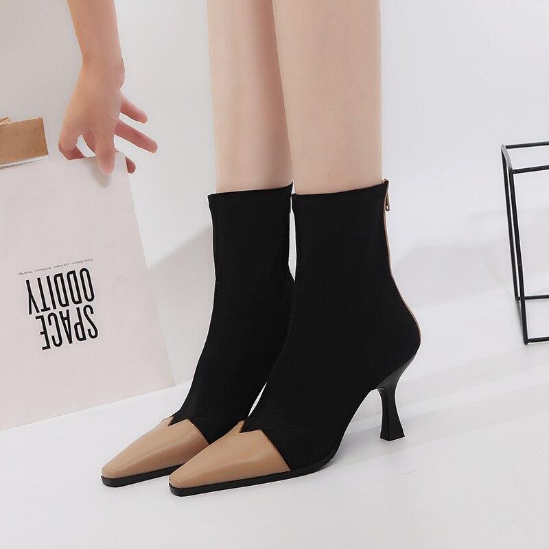 Occidental Trabajo De Maduro Tacón Mezclar Mujer Negro 39 Colores amarillo Calzado Otoño Zapatos Botas Estilo Nuevo Tobillo 34 2018 Alto X81Tq4F