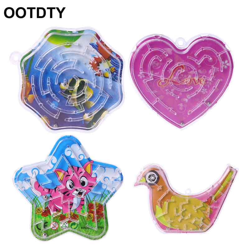 10Pcs Magic Bird Polygon Heart Octagon Puzzle Speed Labyrinth Track Maze Toys For Children Kids Gift