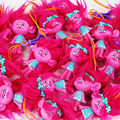 1Pcs 5style Hot movie Trolls 7cm Poppy Brent Sookie shiny DJ Suki Branch Biggie PVC figure keychian keyring pendant Toy