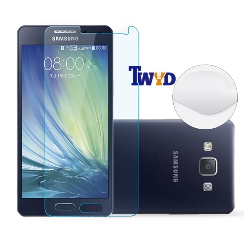 Film pelindung layar, Premium depan kaca tempered untuk Samsung Galaxy S7 A9 A3 A5 A7 2016 A310F A510F A710F S6 S5 S4 S3