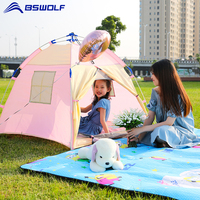 BSWolf Portable Children's Tent Indoor Castle Play House For Kids Outdoor Camping Waterproof Automatic Pop Up Tent