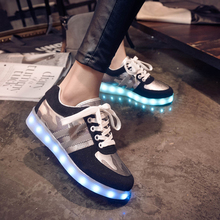 2016 Winter Led Shoes For Adults Fashion Men Women Casual Light Up Shoes Superstar Usb Charge Luminous In The Dark SS1609054
