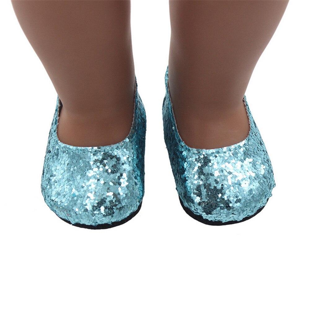 Горячая Распродажа блеск кукла обувь платье обуви для 18 дюймов нашего поколения America ...