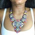 Dvacaman Marca 2016 Nueva Moda Za Declaración Flor Collar Colgante de Collar de Gargantilla Collar de La Joyería Del Banquete de Boda Mujeres Maxi O25