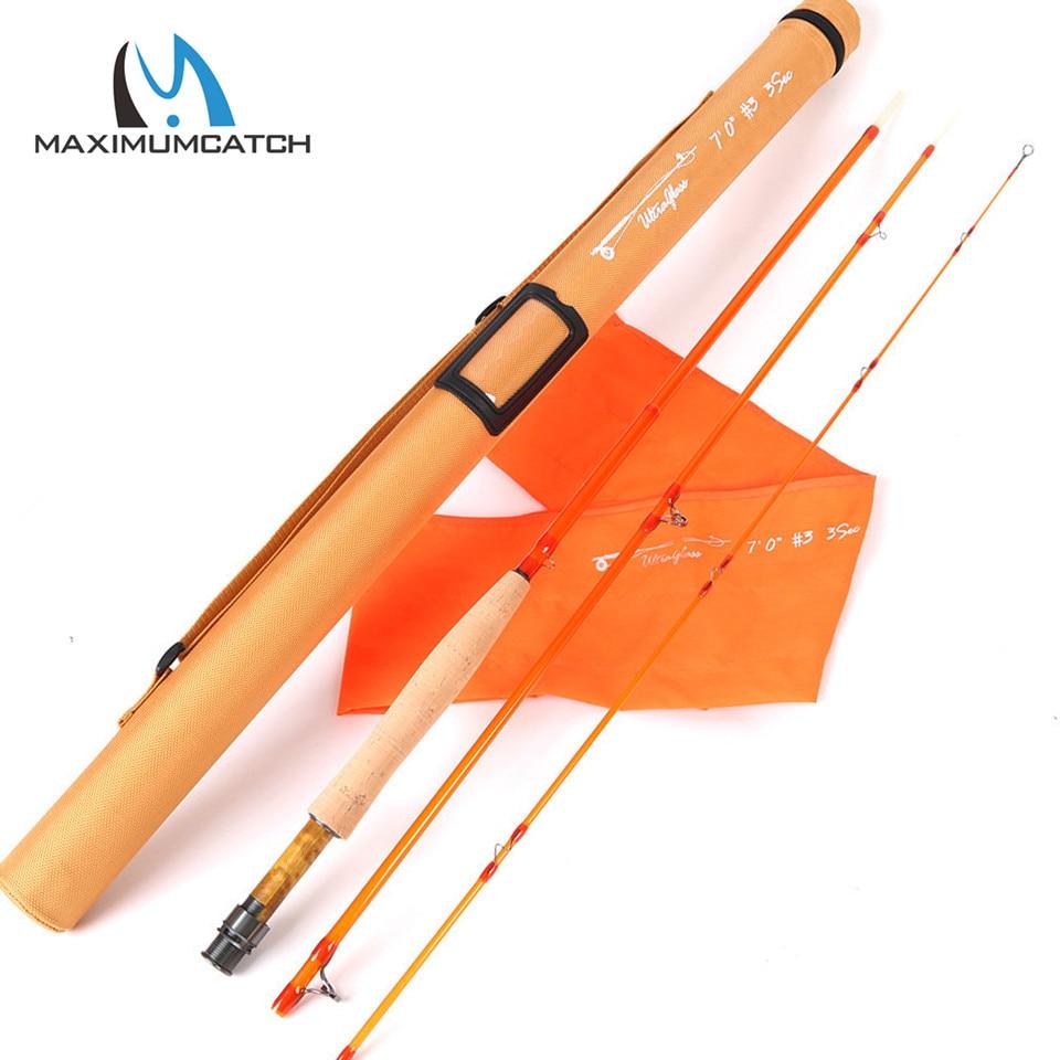 Maximumcatch 7 8 8 6FT 3 5 6wt Transparent Fiberglass Fly Fishing Rod With Cordura Tube