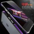 Para a caixa do telefone iphone 7 original luphie aluminum metal frame caso dual color bumper capa para iphone 7 luxo metal casos