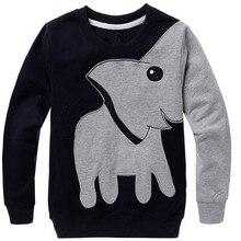 Топы со слоном; осенний Детский свитер с длинными рукавами и героями мультфильмов; пуловер для мальчиков и девочек; топы; рубашки; свитер с длинными рукавами; одежда; 1O30
