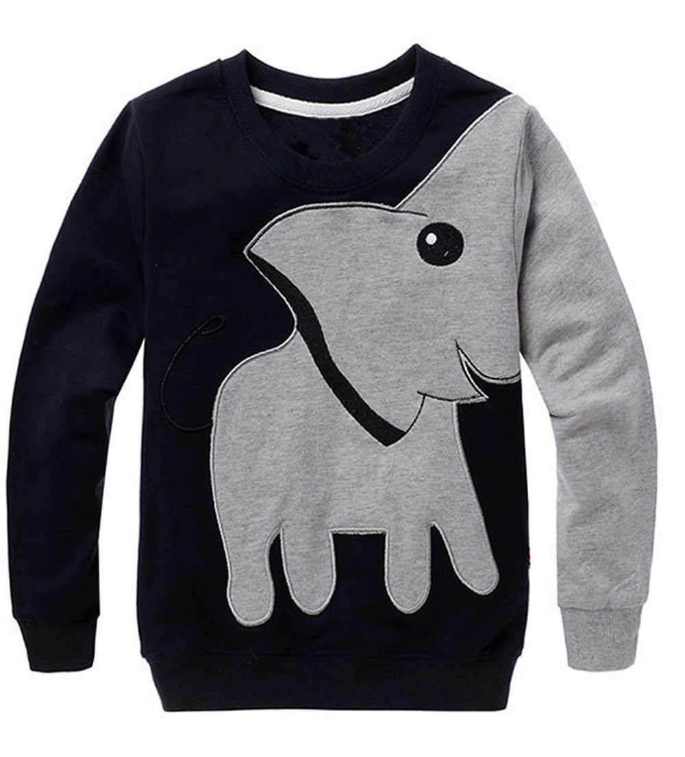Elephant Tops Autumn New Cartoon Long Sleeve Children Sweater Boy Girl Pullover Top Shirts Long Sleeve Sweatshirt Clothing 1O30