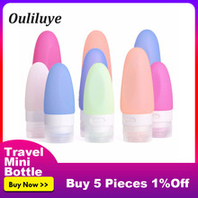 1PCS Travel Bottles Empty Mini Portable Silicone Shampoo Shower Gel Soap Dispenser Lotion Sub-bottling Tube