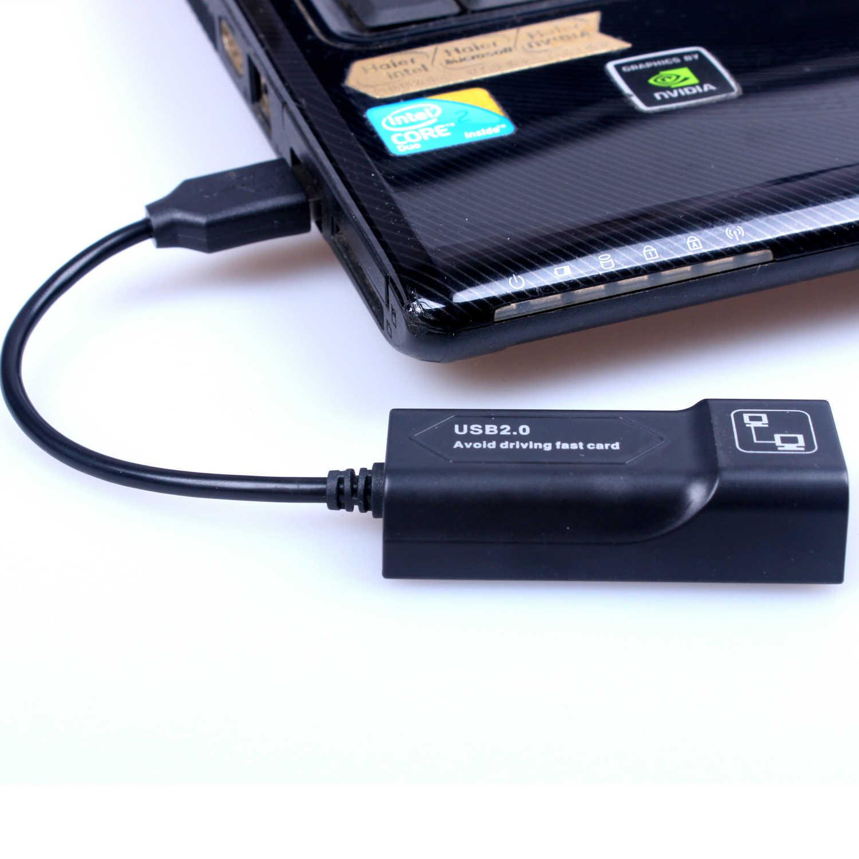 Externe Netwerkkaart Adapter USB naar RJ45 10/100 Mbps Ethernet LAN Converter Voor PC Andriod Win7 Win8 Tablet PC Laptop
