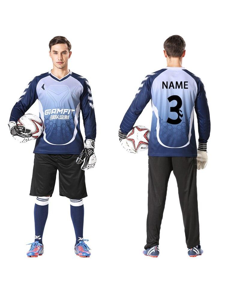 50281407949 Men Soccer Jerseys Set Goalkeeper Jersey Long Sleeves Tracksuit Sponge  Protector