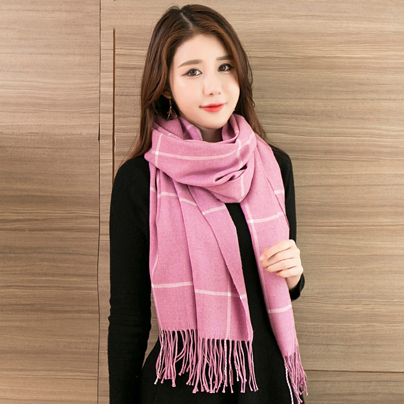 Fine Quality Check Scarf Women Luxury Winter Spring Plaid Warm Scarves Black Friday Sales Ladies Thick Shawls Tassels 11 Colors