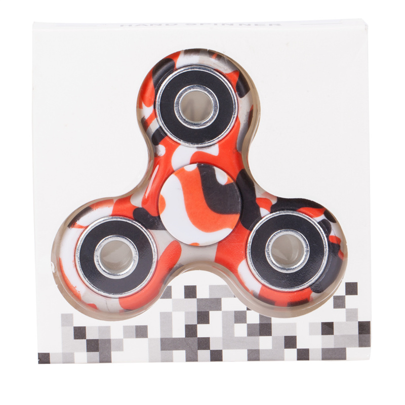 camouflage hand spinner spinning pack red