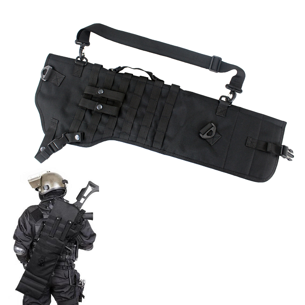 Tactical Shotgun Scabbard Holster Pouch Molle Rifle Sling Case Bag For Outdoor Hunting Rifle Accessories