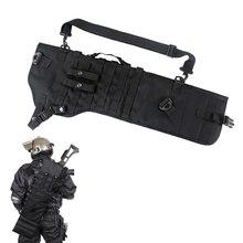 Tactical Shotgun Scabbard Holster Pouch Molle Rifle Sling Case Bag for Outdoor Hunting Rifle Accessories 19tactical ak rifle scabbard molle bag military shoulder sling padded shotgun holster backpack