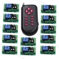 DC 12V 1CH Wirewless Remote Control Switch RF Remote Plug Transmitter Receiver 315Mhz/433Mhz