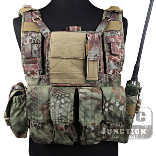 Emerson Tactical MOLLE Rhodesian Reconnaissance Vest RRV Chest Rig Mandrake Panel Plate Carrier with Pouches