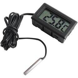 Цифровой мини-измеритель температуры с ЖК-дисплеем, электронный термометр, датчик, тестер с 1 метром, литой корпус, зонд