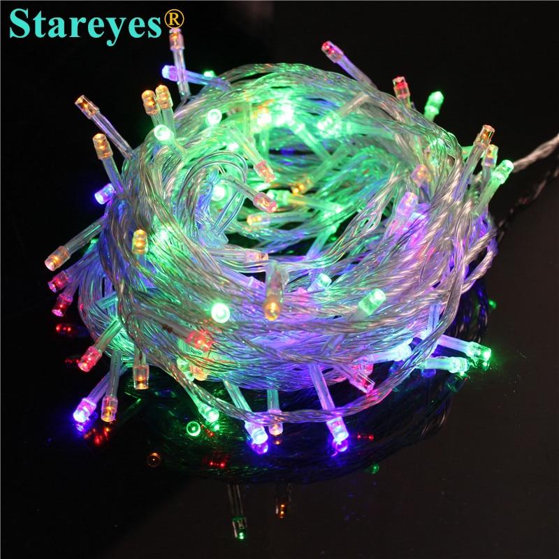 Free Shipping 100 pcs Multicolour 100 LED String LED strip10M 220V/110V Decoration colorful Light for Christmas Party Wedding