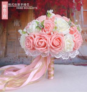 Image 4 - 30 Rose Wedding Bouquets 2020 Handmade Bridal Flower Wedding Party Gifts Wedding Accessories Flowers Pears beaded with Ribbon