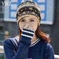 YBZ Pentacle Star Warm Skull Beanie Hip Hop Knit Cap Ski Crochet Cuff winter hat for Women Men