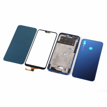 For HUAWEI P20 lite nova 3E Housing LCD Middle Frame+Glass Battery Back Cover+Touch Screen Digitizer Panel+Adhesive Sticker