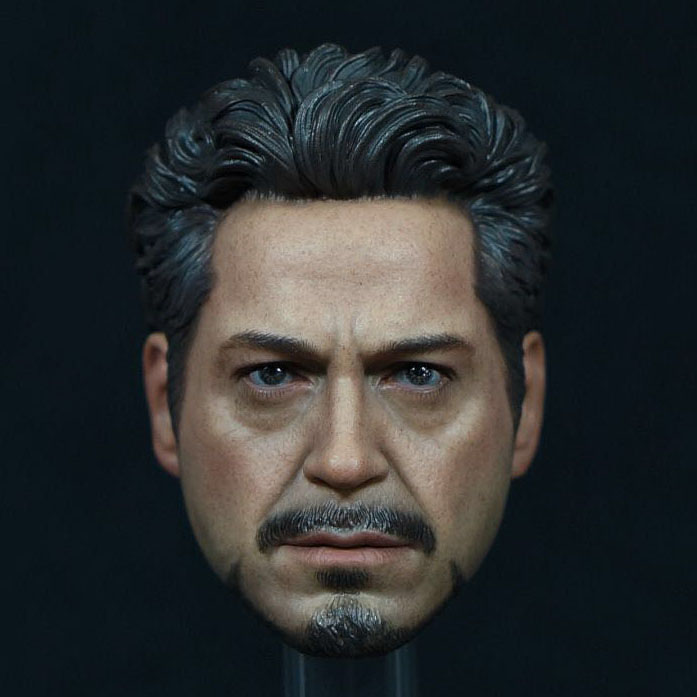 In Stock Tony Headplay 1/6 Scale Avengers Iron Man Tony Head sculpt Head Carving Model Fit 12 Action Figure Accessory brand new 1 6 scale head sculpt iron man 2 ivan vanko mickey rourke head sculpt accessorise for 12 action figure model toy