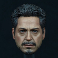 New Edition Tony Headplay 1 6 Scale Avengers Iron Man Tony Head Sculpt Head Carving Model