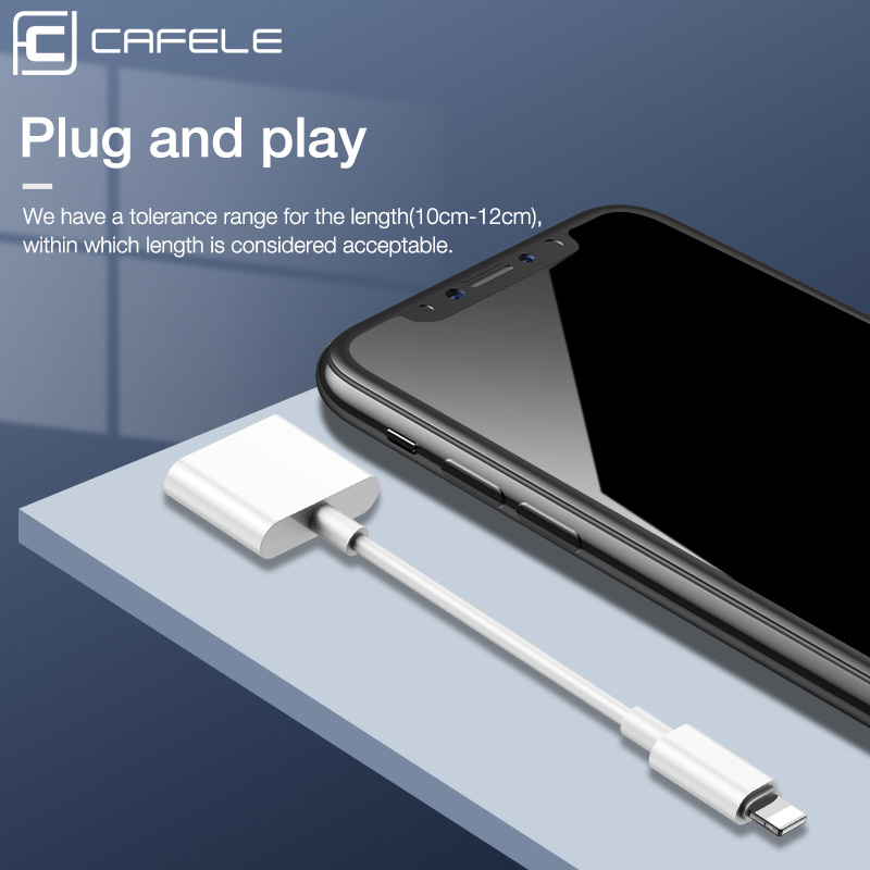Image 5 - Cafele 2 in 1 Audio Adapter For iPhone X XR XS MAX 8 7 Plus Charger Adapter Earphone OTG Splitter Converter For iOS Support Call