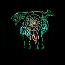 Dreamcatcher Table Lamp Bedroom Touch Sensor Color Changing RGB Child Kids Gift Baby Night Light Dream Catcher Dropshipping 2019