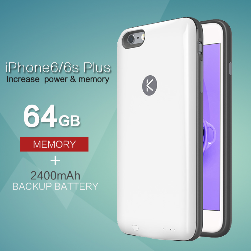 info for 1f6d3 750e0 Orignial KUNER Case Ultra Slim Extended Battery Backup Case & 64G Memory  for iPhone 6/6s Plus(5.5 inch) with 2400mAh Capacity-in Battery Charger  Cases ...