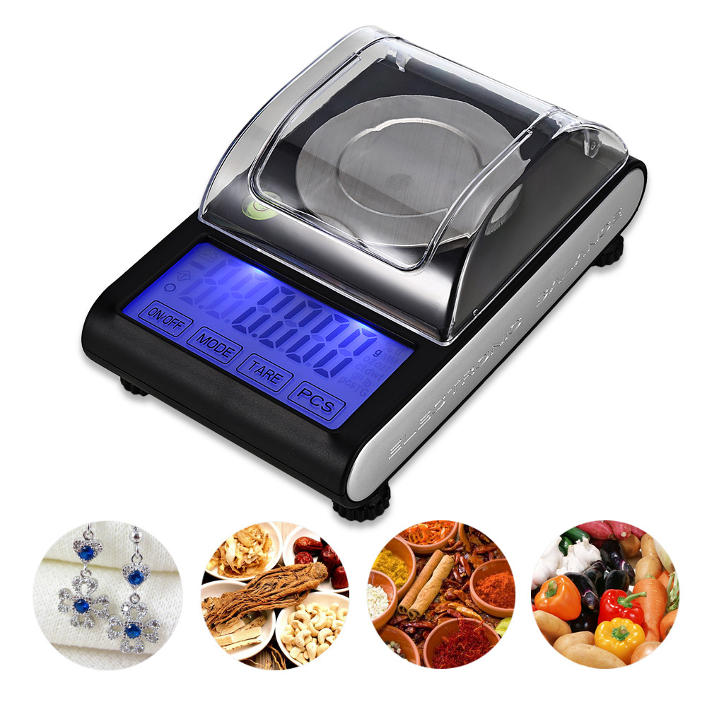 50g / 0.001g High Precision Touch Screen Portable Electronic Digital Diamond Jewelry Scale Gold Lab Balance newacalox 50g 0 001g portable mini jewelry scales lab weight high precision scale medicinal use lcd digital electronic balance