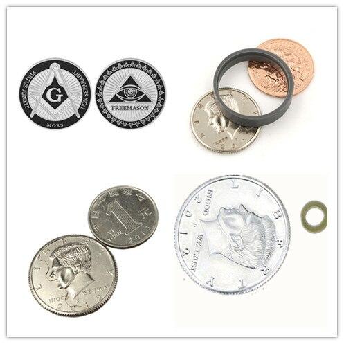 Scotch And Soda Coins Magic Tricks Magic Tango Scotch & Soda (US Dollar Version) - Coin & Money Magic Props Mentalism Toy 1 Set