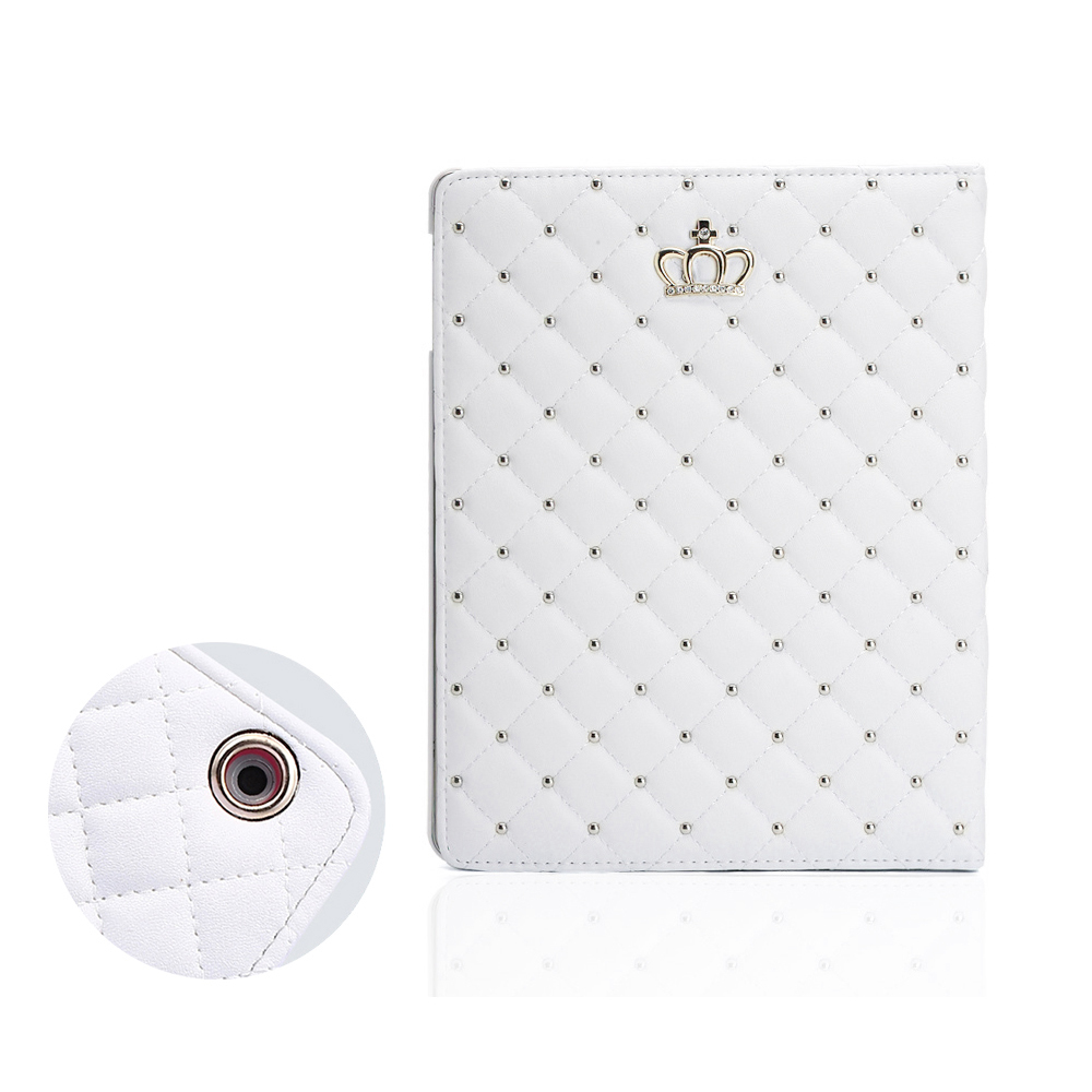 Crown Cover For Ipad Mini 123 Para PU Leather Protective Case For Ipad 234 For Ipad 9.7 Black White Rose Gold Color Capa