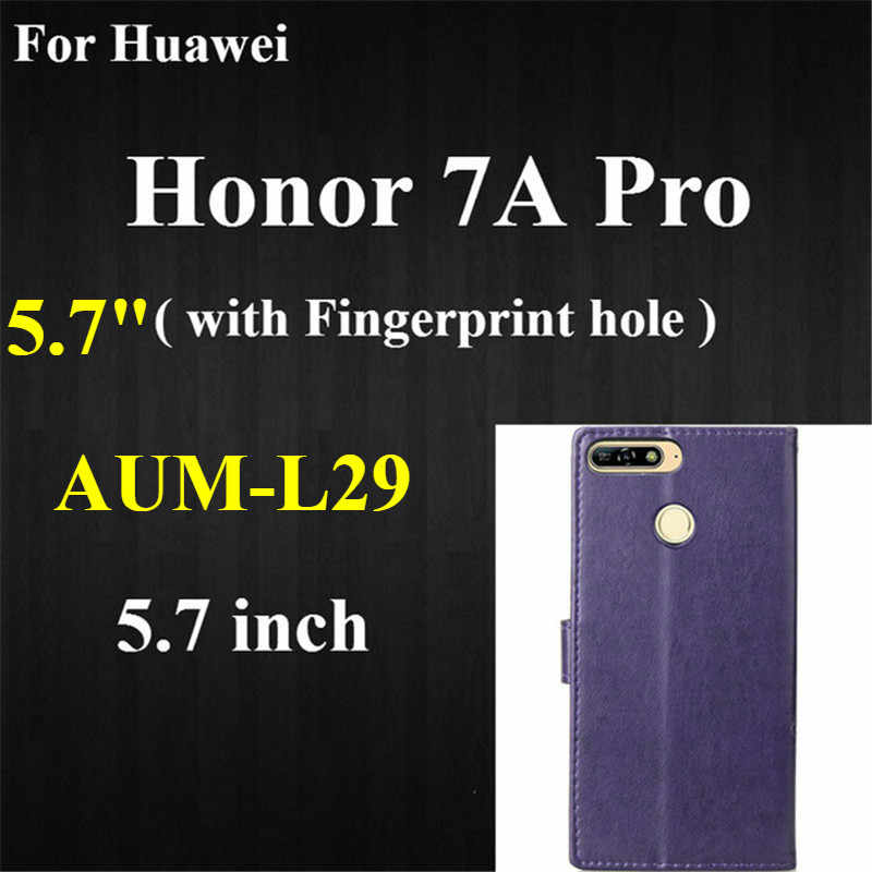 Leather Case on for Huawei honor 7A Pro 5.7 AUM-L29 case Soft Back Covers Flip Case For Huawei Honor 7A 5.45 DUA-L22 Phone Cases