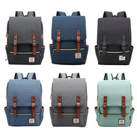 Cycling Bag Bicycle Pocket Vintage Canvas Backpack Lightweight Canvas Laptop Backpack For Outdoor Sports Riding Campus