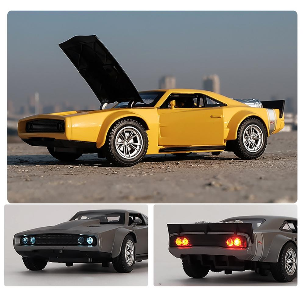 LeadingStar 1:32 Alloy Pull Back Sports Car with Lights Sound Simulation Car Model Toys Gift for Kids