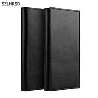 2018 Newest 100 Genuine Cow Leather Phone Case Hand Card Wallet Pouch For Samsung Galaxy A8