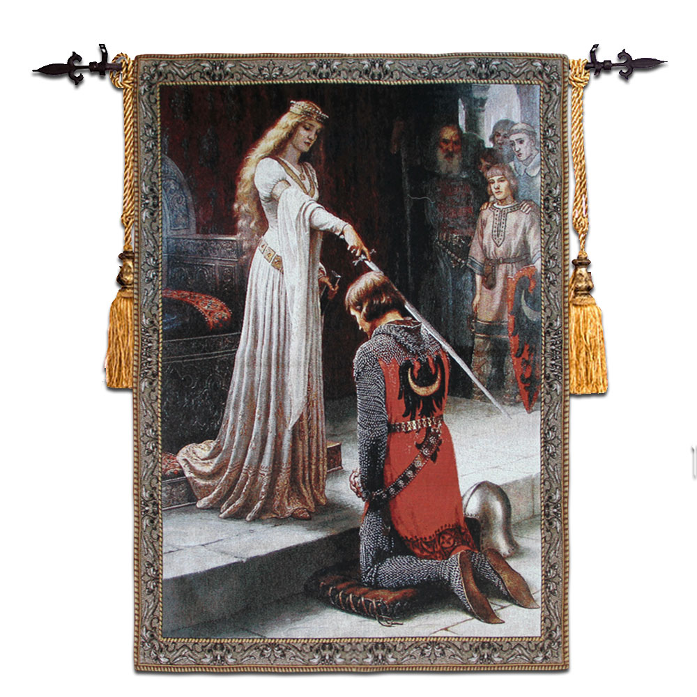 98x140cm Wall Tapestry Gobelin Fabric Belgium Woven Hanging Wall Tapestries Cotton Medieval Moroccan Decor tapiz pared goblen-in Tapestry from Home & Garden    1