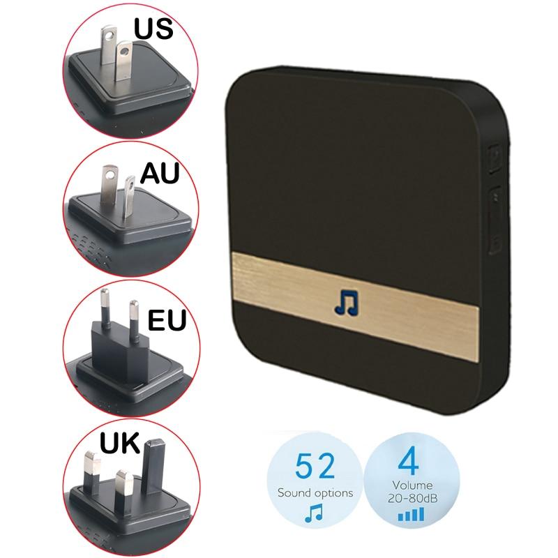 AC 90-250V Smart Indoor Doorbell Wireless WiFi Door Bell US EU UK AU Plug Tosee App And Anyhome App For V5 B30 B10