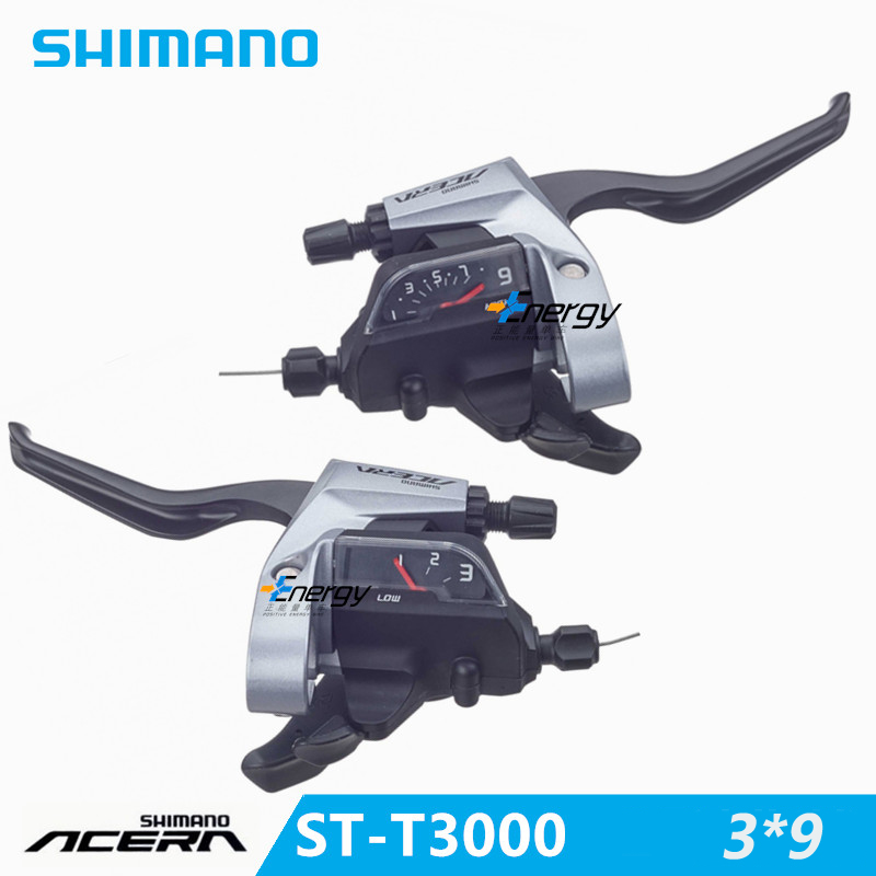SHIMANO ACERA mountain bike ST-T3000 DIP drive bicycle brake handle crank lever switch MTB bicycle derailleur 3 * 9 27 speed  shimano acera mountain bike st ef65 shift brake lever 3 8 speed 24s mtb bicycle bike conjoined dip bicycle derailleur