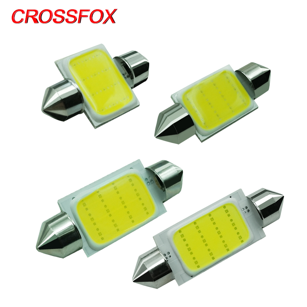 CROSSFOX 2x <font><b>LED</b></font> Festoon 31mm 36mm 39mm <font><b>42mm</b></font> C5W <font><b>LED</b></font> <font><b>Bulb</b></font> Car Dome Styling Reading Light Interior Lamp 12V 6000K Cold White image