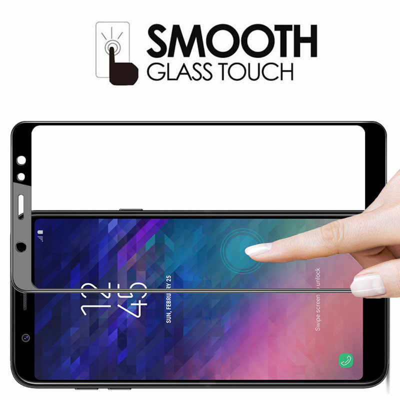 Tempered Glass For Samsung Galaxy A6 A4 A6plus A600F Screen Protector on the For Samsung A6 Plus A6+ A 6 4 Protective Film Cover
