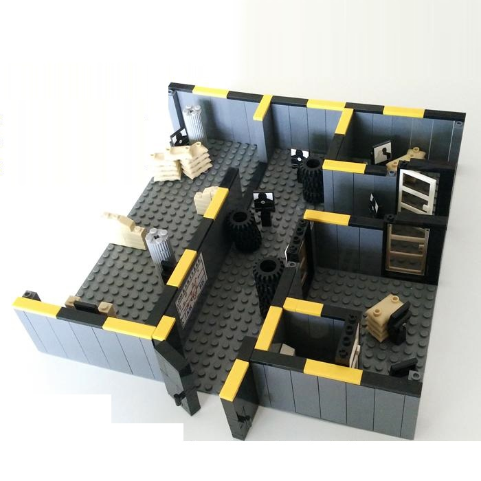 Police Training Room 25*25cm Weapons Original Toy Swat City Police Military Weapons Accessories Compatible diy mini figures c010 original blocks educational toys swat police military weapons gun model city accessories mini figures