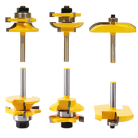 3pcs High Quality 1 4 Shank Ogee Raised Panel And Rail Stile Router Bits Set Wood