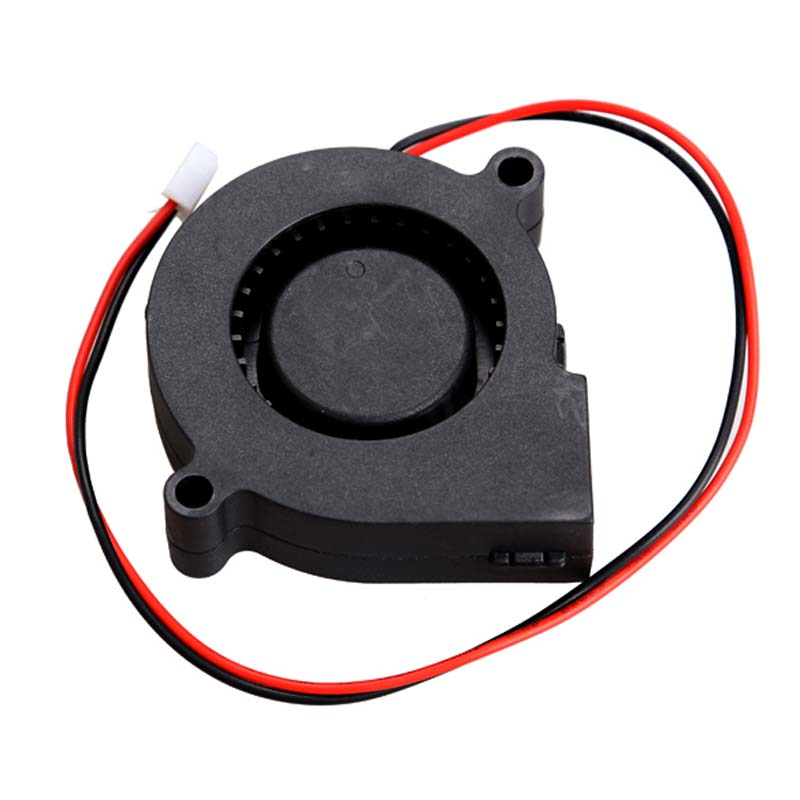 Black Brushless DC Cooling Blower Fan 2 Wires 5015S 12V 0.14A 50x15mm High Quality DJA99