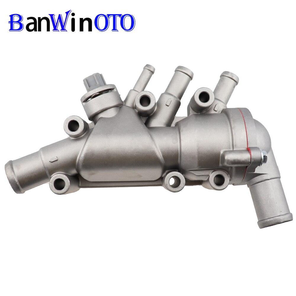 Aluminium Duratec Thermostat mit Gehäuse für Ford KA 1,3 1,6 1337823 1130416 1218087 XS6E-8A586-AG/-AH/-AG 356-857-A2AA